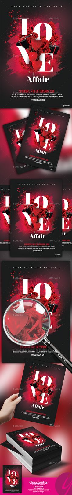 Love Affair Flyer - Clubs & Parties Events