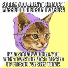 I remember the days of 5 back-to-back home visits where each client was crazier than the one before. I miss being in the field (but only sometimes) Hipster Meme, Hipster Edits, Hipster Party, Hipster Style, Hipster Fashion, Warrior Cats Funny, Warrior Cat Memes, Movie Covers, Tv Covers