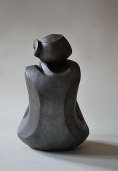 Artwork by Nyári Flóra - Girl, Sculpture Painted ceramic Artstack - art online Sculptures Céramiques, Art Sculpture, Stone Sculpture, Modern Sculpture, Abstract Sculpture, Ceramic Painting, Ceramic Art, Metal Art, Wood Art
