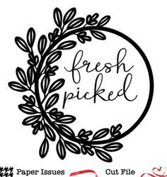 Fresh Picked Wreath-Free Cut File