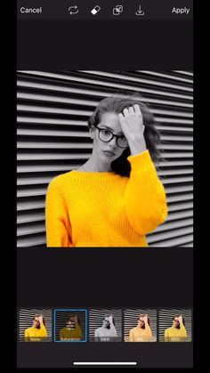 Break out your most vibrant sweater! 🤩💛 This stunning color-isolated effect is a fall favorite of ours because it's SO easy to create. Simply apply the B&W effect and strategically erase 🍂✨ Photography Editing Apps, Photography Tips Iphone, Creative Portrait Photography, Photography Basics, Photography Poses, Wow Photo, Applis Photo, Creative Instagram Photo Ideas, Ideas For Instagram Photos