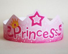 Princess Anna Inspired Paper Crown Printable by PutACrownOnIt Origami Crown, Star Monsters, Crown Printable, Kindergarten, Paper Crowns, Princess Anna, Letter Size, Printed Materials, Card Stock