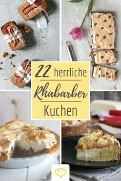 Die besten Rhabarberkuchen Rezepte der Blogosphäre! Deutsche Foodblogger verraten wie sie die rot-grünen Stangen am liebsten genießen!