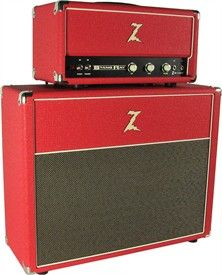 Dr. Z Stang Ray Head / 2x12 cab w/ Celestion Blues - Red with Tan Grill