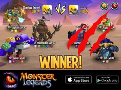 I rule at the Monster Legends Arena! If you dare to challenge me, start collecting monsters! http://m.onelink.me/8651e4be