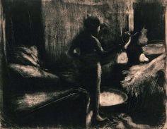 Edgar Degas (1834–1917) The Tub, ca. 1876–1877 Monotype, 16-1/2 x 21-1/4 inches  Bibliothèque de l'Institut national d'histoire de l'art, Paris. Collections Jacques Doucet  © Institut national d'histoire de l'art, Bibliothèque, Collections Jacques Doucet