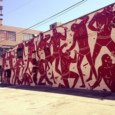 Cleon Peterson mural in Los Angeles #cleonpeterson #losangeles #streetart