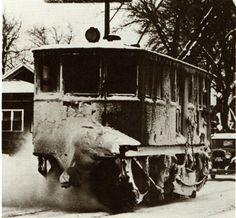 "1934 ""Snow Removal"" Machine in Iowa"