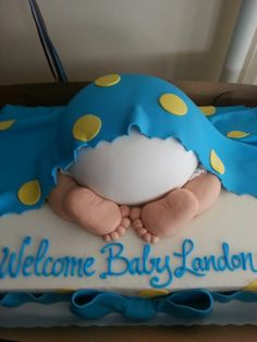 Cake for my sister's baby shower. Too cute to eat!