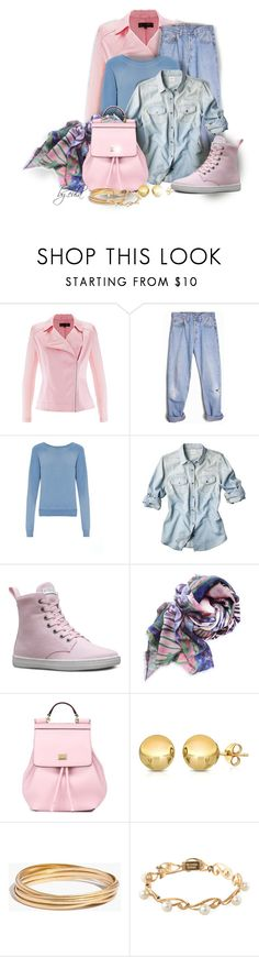 """Pink and Blue Winter (Outfit Only)"" by eula-eldridge-tolliver ❤ liked on Polyvore featuring Levi's, Yves Saint Laurent, Dr. Martens, Dolce&Gabbana, Sevil Designs, Madewell, Mikimoto, women's clothing, women and female"