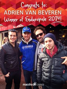The whole MACSHA Cronos Timing team would like to congratulate Adrien Van Beveren on winning the biggest enduro race in the World! #enduropale   #touquet   #touquet2014
