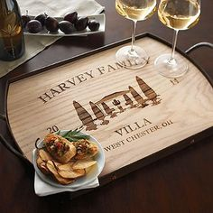 Personalized Villa Serving Tray