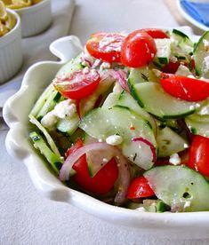 Recipe for Cucumber Tomato and Feta Salad