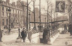 La nouvelle sortie du métro de la place de la République, vers 1905.
