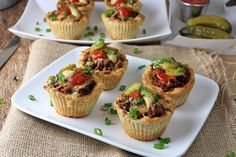 Cheeseburger Muffins Shared on https://www.facebook.com/LowCarbZen | #LowCarb #Keto #Snack #PartyFood