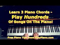 Play Hundreds Of Songs On The Piano By Learning 3 Primary Chords! | Piano Lessons for Adults