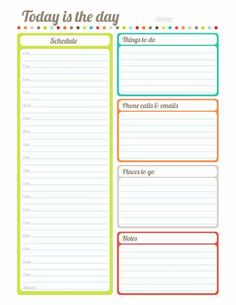 Schedule Template Printable  Free Printable Daily Schedule Form