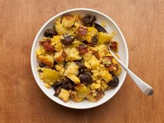 Get Cornbread Dressing with Pancetta, Apples, and Mushrooms Recipe from Food Network