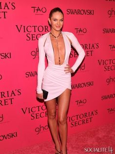 NEW YORK, NY - NOVEMBER 13: Model Candice Swanepoel attends the 2013 Victoria's Secret Fashion Show at TAO Downtown on November 13, 2013 in ...