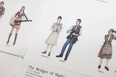 Costume sketches for Kelli O'Hara, Steven Pasquale & Co. Offer a Romantic Preview of The Bridges of Madison County