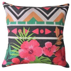 Tropical%20Geometric%20Cushion%20CoverOur%20gorgeous%20tropical%20hibiscus%20print%20cushions%20combines%20our%20love%20of%20geometric%20patterns%20and%20tropical%20designs.%20Coordinates%20beautifully%20with%20%20our%20Bamboo%20cushion%20style.-%20Size:%2045cms%20x%2045cms%20-%20Material:%20100%%20Cotton%20(Linen)%20-%20Durable,%20heavy%20texture%20and%20comfortable%20feel-%20Concealed%20size%20zipper%20-%20Inserts%20are%20not%20included