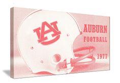 http://www.footballartusa.com/ football art! Football art printed in the U.S.A.   Vintage Auburn football helmet art on canvas. College football art. Auburn football art. #footballart