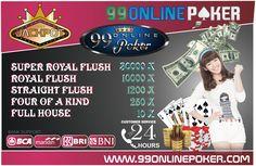 Website Poker Online Terpercaya - 99onlinepoker merupakan situs judi online poker terbesar di Indonesia dengan proses deposit dan withdraw yang sangat cepat.