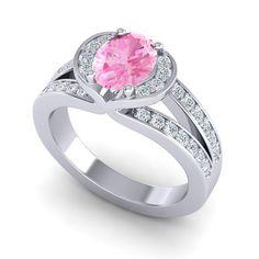 Pink Tourmaline | Gemstone | Rings | Wedding Jewelry | Halo Rings