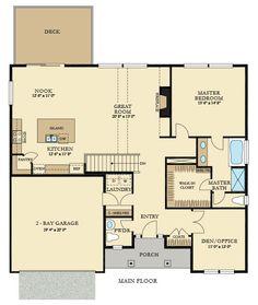 DUBLIN New Home Plan in Breckenridge by Lennar. 1st floor