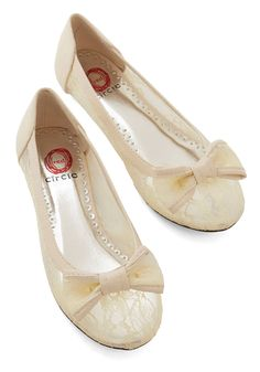 New Arrivals - Sheer to Fall in Love Flat in Cream