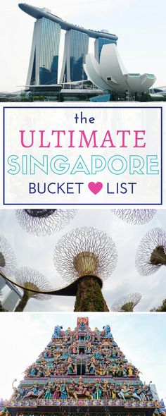 The Ultimate Singapore Bucket List. Singapore is such a photogenic city with stunning temples, beautiful parks and great design spaces. Singapore Travel Tips, Visit Singapore, Singapore Malaysia, Singapore Trip, Singapore Itinerary, Singapore Guide, Places To Travel, Travel Destinations, Places To Go
