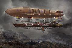 Steampunk Airship   Airship Maximus Photograph by Mike Savad - Steampunk - Blimp - Airship ...