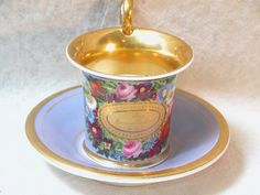 1797: Old Paris Porcelain Cup and Saucer. : Lot 1797