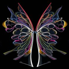 colorful butterfly book art by Cara Barer