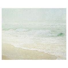Beach Photography, Beach Wall Art, Light Green Wall Art, Sea Green... ($20) ❤ liked on Polyvore featuring home, home decor, wall art, beach wall art, beach home accessories, photographic wall art, photography wall art and mint green home decor