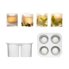 Icy Shot Glass Mold - Set of 3 | dotandbo.com