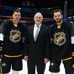 So long, Nashville! Thanks for an amazing #NHLAllStarWeekend! Jamie Benn, Coach Lindy Ruff and Tyler Seguin