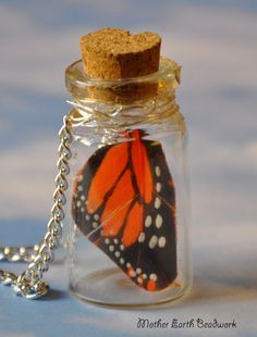 $12.50 Hey, I found this really awesome Etsy listing at https://www.etsy.com/listing/184277773/choose-your-wing-color-jar-necklacefairy