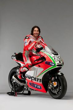 Cool guy on cool bike... Nicky Hayden with his new Ducati Desmosedici GP12