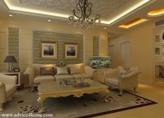 Framed molding, wallpaper, picture frame white pop ceiling design and traditional sofa set design in living room Luxury Living Room, Room Design, Living Room Interior, Sofa Set Designs, Traditional Design Living Room, Interior Ceiling Design, Living Room Ceiling, Interior Design, Living Design