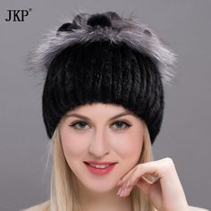 39.53$  Watch here - http://ali9ae.shopchina.info/1/go.php?t=32816009953 - 2017 Hot Winter rabbit fur mink point lady's fur hat cap cap with pompom fur fashion luxury women's chapeau headdress  DHY17-03 39.53$ #buyonline