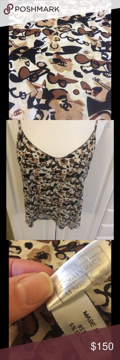 Pics added -silk Chanel cami/tank Upon customer request - more photo in closet . Gorgeous authentic Chanel piece . Fits as a small. Pics 3,4-inner tags. CHANEL Tops