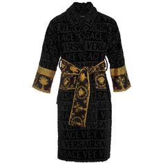 867fee614051 Buy the Barocco Robe Bathrobe - Black from Versace Home at Amara.