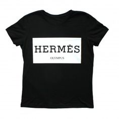 Hermes Olympus Black Women t-shirt Olympus, Printed Shirts, Hermes, Black Women, T Shirts For Women, Hoodies, Stylish, Unique, Mens Tops