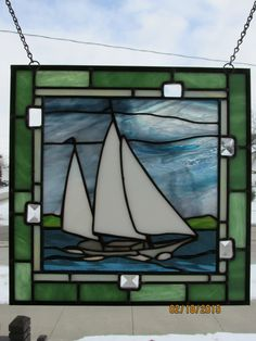 Stained Gl Crafts Designs Panels Leaded Patterns Mosaic Fused Boat Window