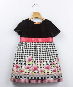 Take a look at this Black & Pink Floral Dress - Infant, Toddler & Girls by Beebay on #zulily today!