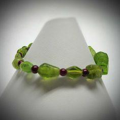 Bright Green Glass Bead Stretch Bracelet by LadyBirdJewelry, $16.00