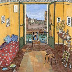 Matisse's+Studio+-+Quai+Saint+Michel+Paris,+1916