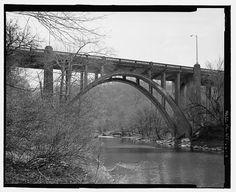 4.  VIEW EAST, DETAIL OF ARCH  - Buffalo Creek Bridge, U.S. Route 19, spanning Buffalo Creek near confluence of Monongahela River, Fairmont, Marion County, WV