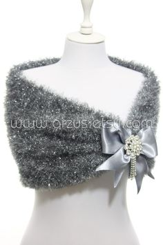 Grey Silver Wedding Shawl Bridal Shawl Bridal Wedding by Arzus